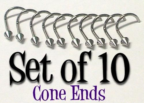 10 Nose screws rings pins 20g TINY CONE ends piercing Body Jewellery. Today 23/9/15 - $5.95 including FREE Australia wide postage. Today only!