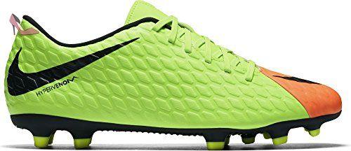 f9b5982c73e Nike Men s Hypervenom Phade III Firm Ground Soccer Cleats (Electric Green  Black Hyper Orange Volt