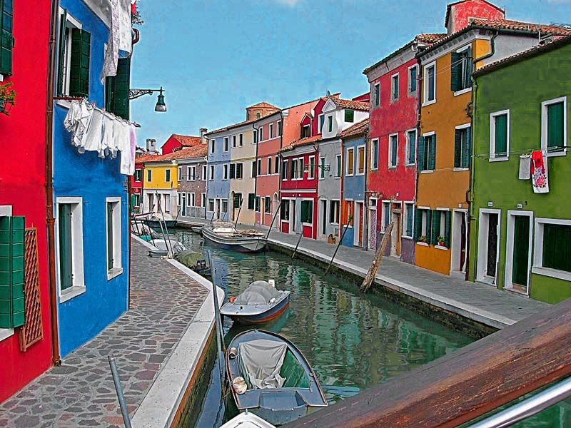 Burano, I had a very nice dinner there, one time.