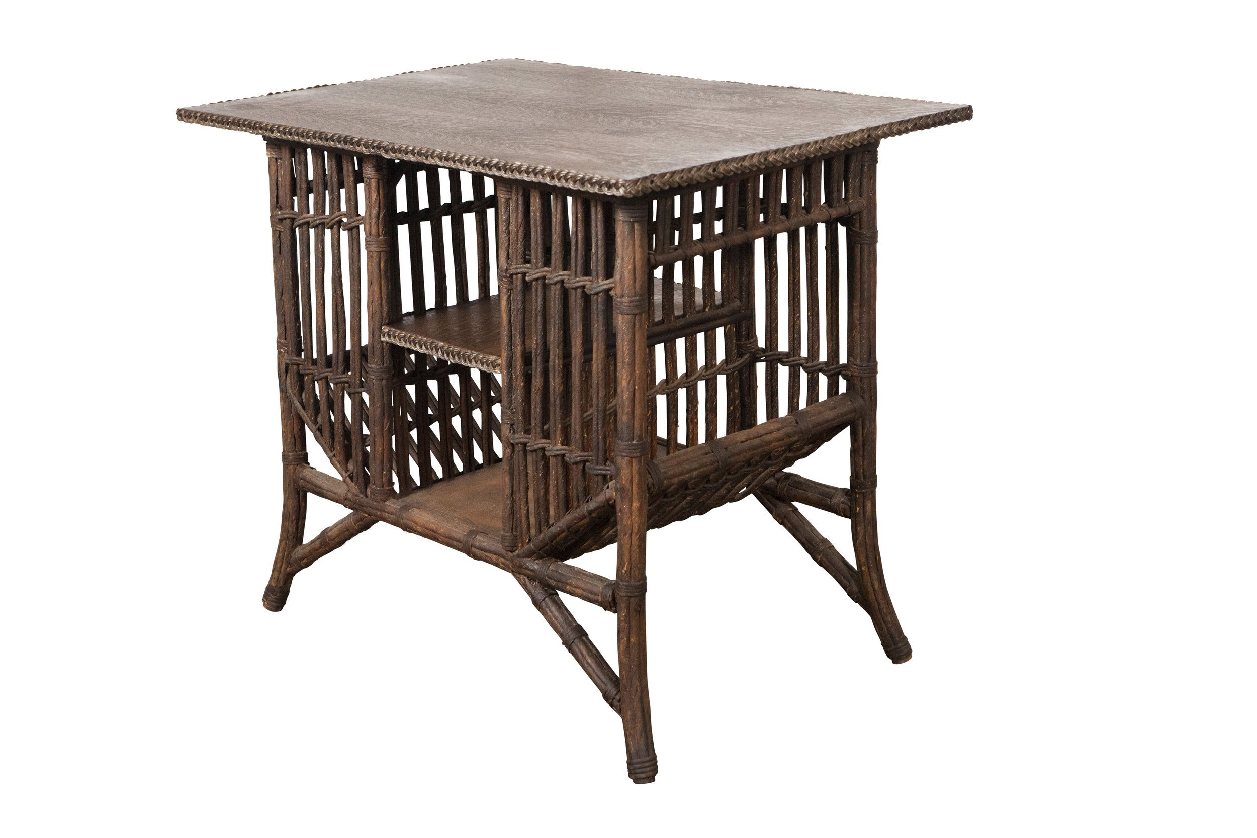 Lloyd Loom Stick Wicker Style Table with Storage | SIDE TABLES ...