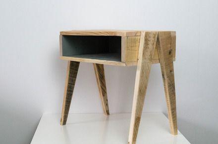 table de nuit en bois table de nuit en bois table de nuit en bois recycl table de nuit style. Black Bedroom Furniture Sets. Home Design Ideas