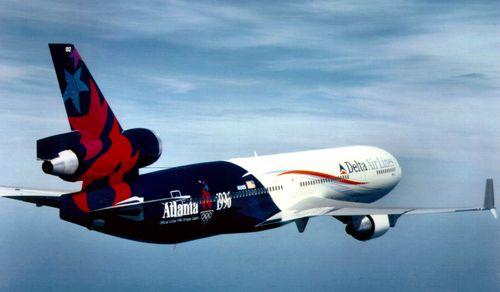 Delta Airlines 1996 Olympics Plane Aviation training