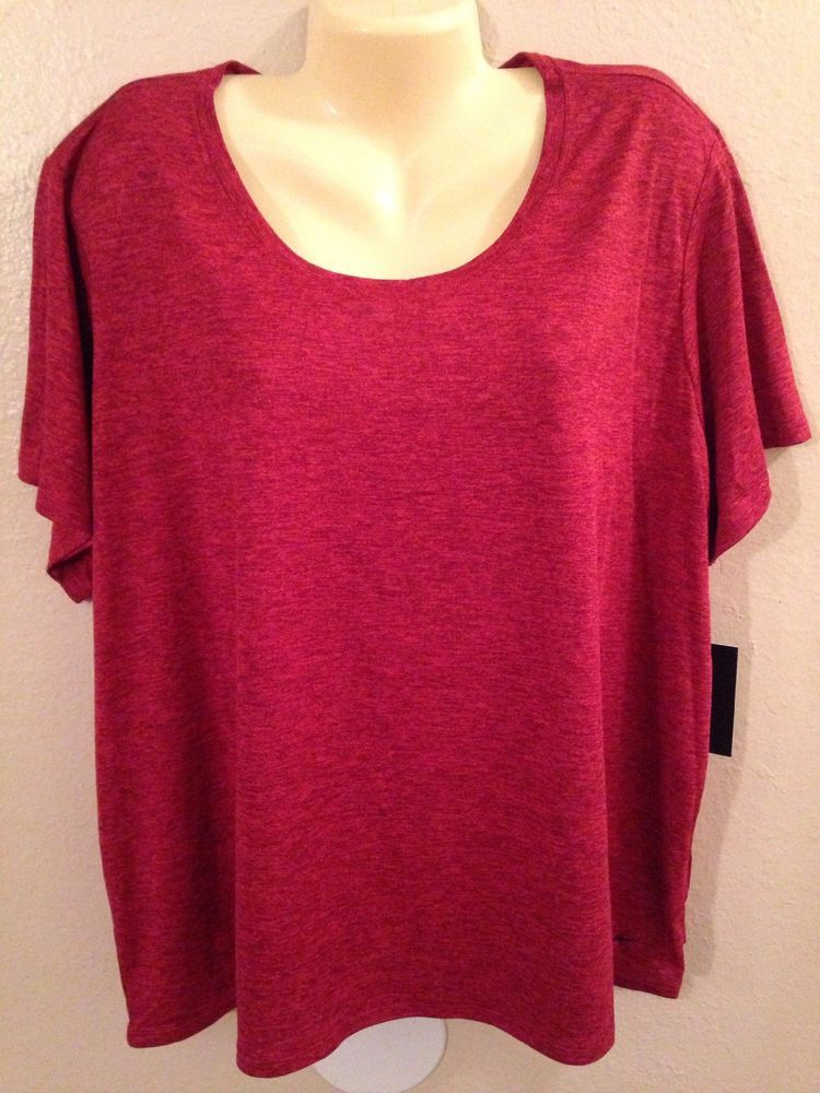 Nwt ladies plus size nike drifit red athletic fitness