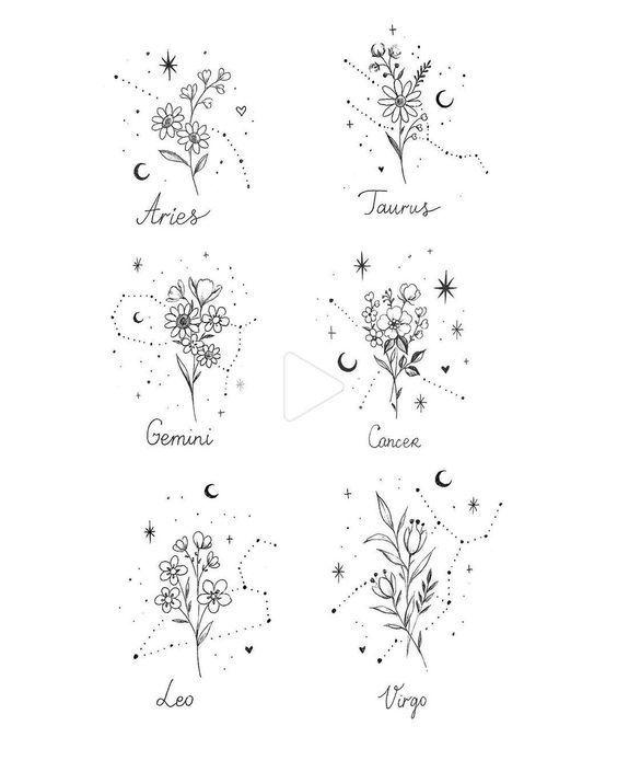 "Photo of Julia Mo op Instagram: ""🌸💫 #constellations #constellationtattoo #constellation #flowerpo…"