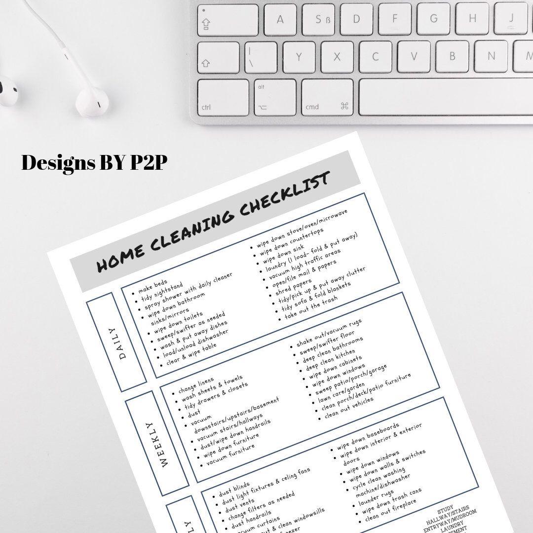 Home Cleaning Checklist Cleaning checklist, Clean house