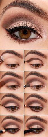 Instrucciones paso a paso para la sombra de ojos #instrucciones #peinados #pelo …..