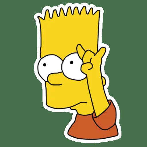 Bart Simpson Stickers Set For Telegram Bart Simpson Drawing Simpsons Drawings Bart Simpson Art