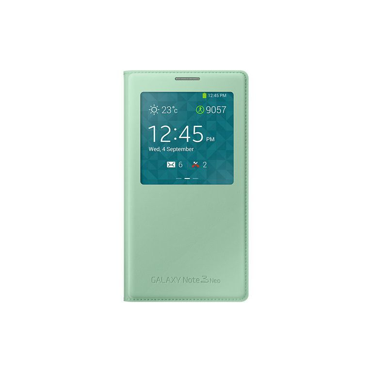 Samsung S View Cover for Galaxy Note 3 Neo - Mint