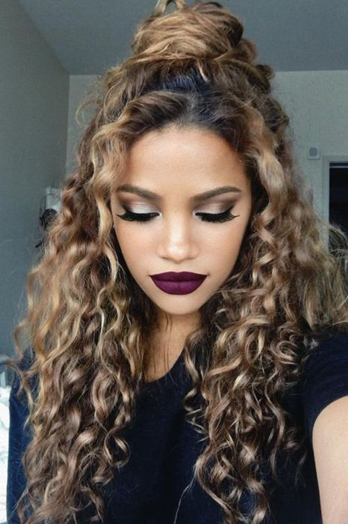 Hairstyles For Curly Hair Extraordinary 20 Trendy Hairstyles For Curly Hair  Pinterest  Long Curly