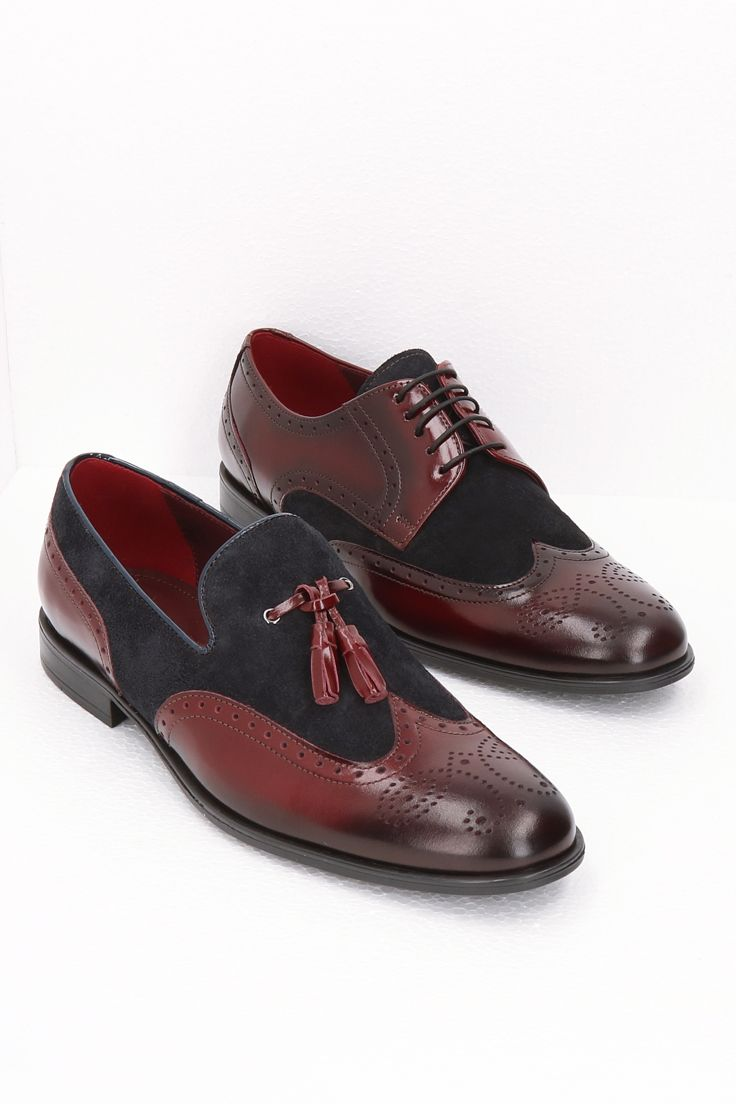 Polbuty Skorzane Bordowe Hugo Ce6166 01 Dress Shoes Men Loafers Men Oxford Shoes