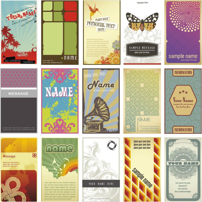 retro-business-cards-vector.jpg (800×800) | Vagabond | Pinterest ...