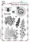 Honey Bee Unmmounted Stamp Sheet - A5 Chocolate Baroque. Gorgeous images
