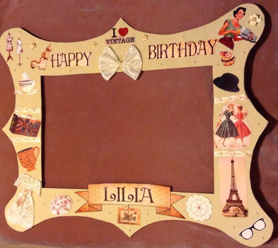 Photo frame photo backdrop. Could be used with any theme by changing ...