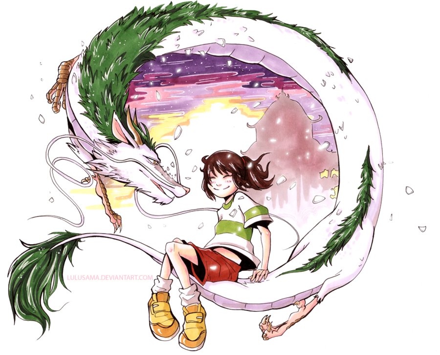 Commission Spirited Away By Lulusama On Deviantart Ghibli Museum Ghibli Drawings