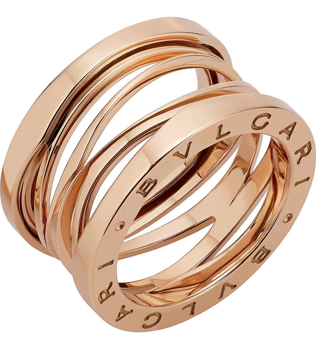 9f25f27a7a7 BVLGARI B.zero1 Zaha Hadid four band 18ct pink-gold ring