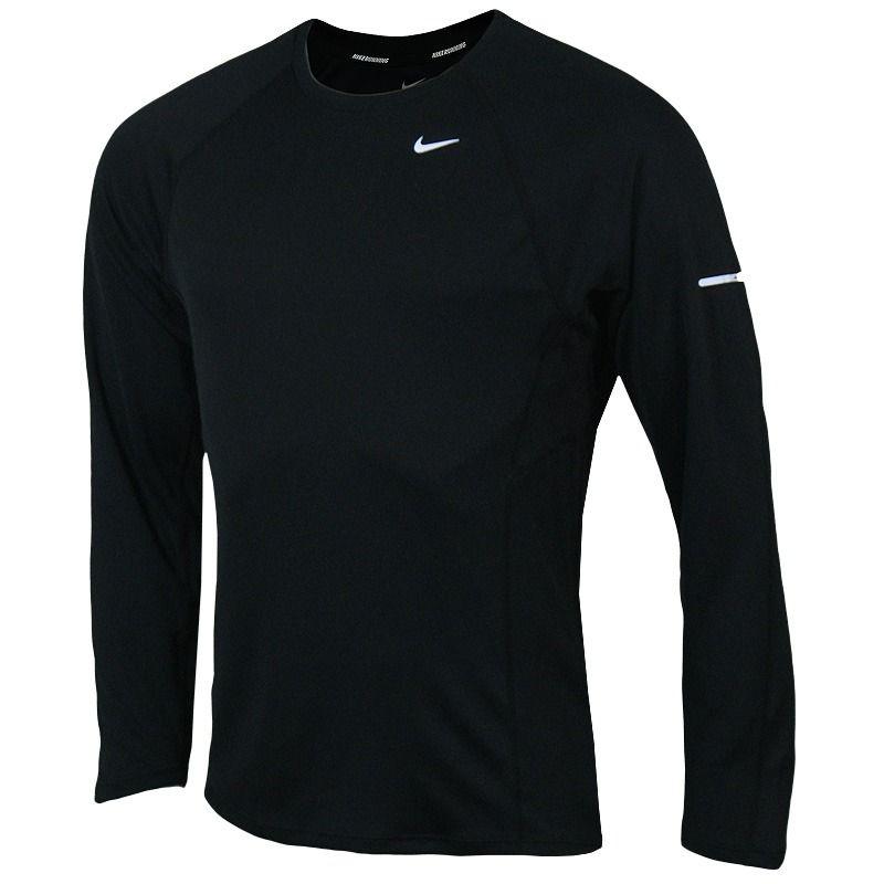 Bluza Do Biegania Nike Dri Fit Uv Miler Mens Running Shirt Black Fun 172 404651 010 Czarny Bluzy Proste Ceny I Opinie Ceneo Pl Long Sleeve Tshirt Men Mens Tops Mens Tshirts
