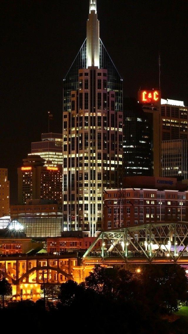Usa Nashville Tennessee Night Nashville Tennessee Nashville Tennessee