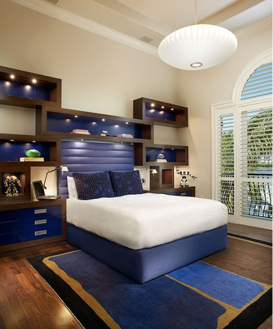 Boys bedroom design idea with blue accents Lasher Contracting www