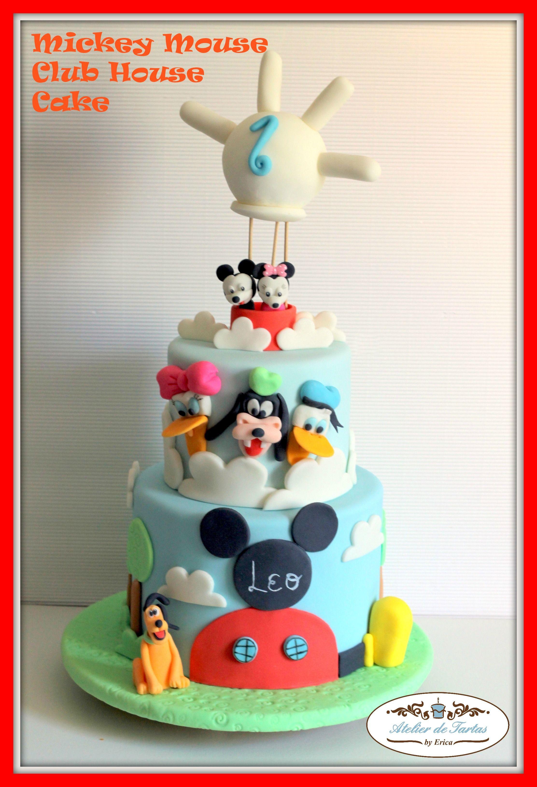 Atelier de Tartas#Tarta Fondant Mickey Mouse#Tartas Fondant La casa ...