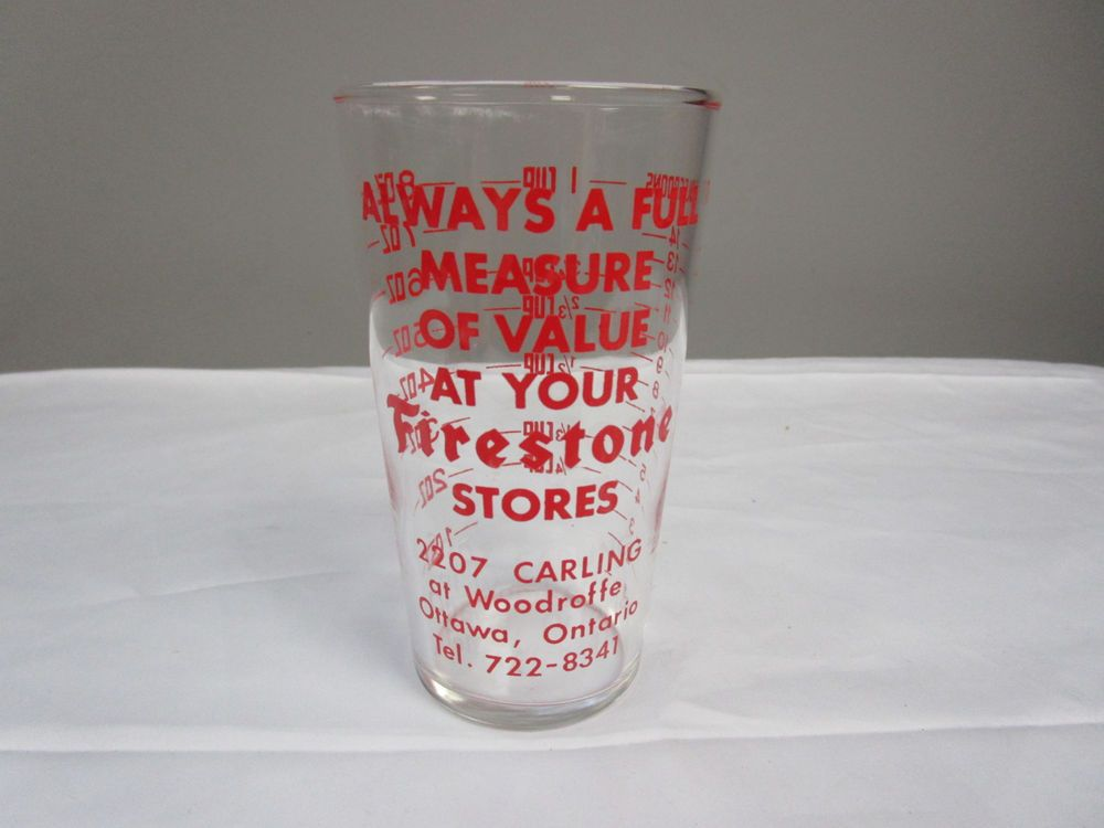 C417) Firestone Measuring Glass Holds 1 cupNo Chips, No