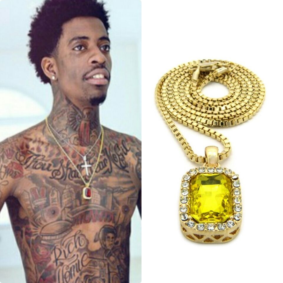 Iced out canary yellow pendant gold chain necklace hiphop rick ross iced out canary yellow pendant gold chain necklace hiphop young thug ruby men sq box aloadofball Gallery