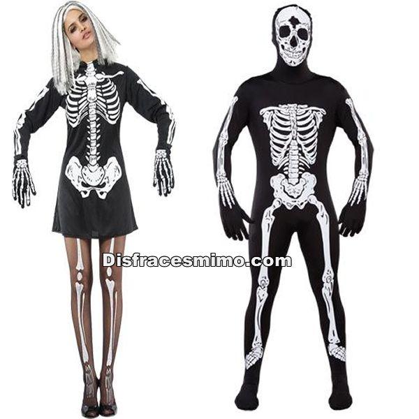 Disfracesmimo Disfraz De Pareja De Esqueletos Para Hombre Y Mujer Adultos Con Este Disfraces De Esqueletos Para Parajes En Las Fiestas De T Fashion Style Punk