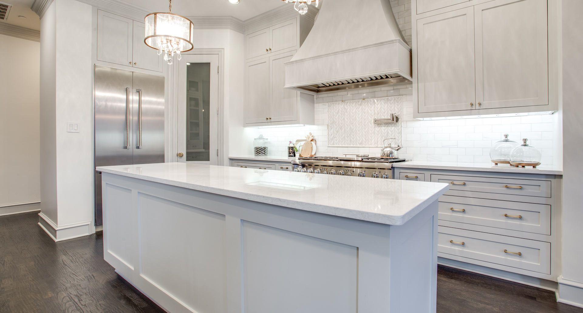 the kitchen reveal pre flooring quartz kitchen quartz countertops white kitchen decor on kitchen cabinets not white id=60988