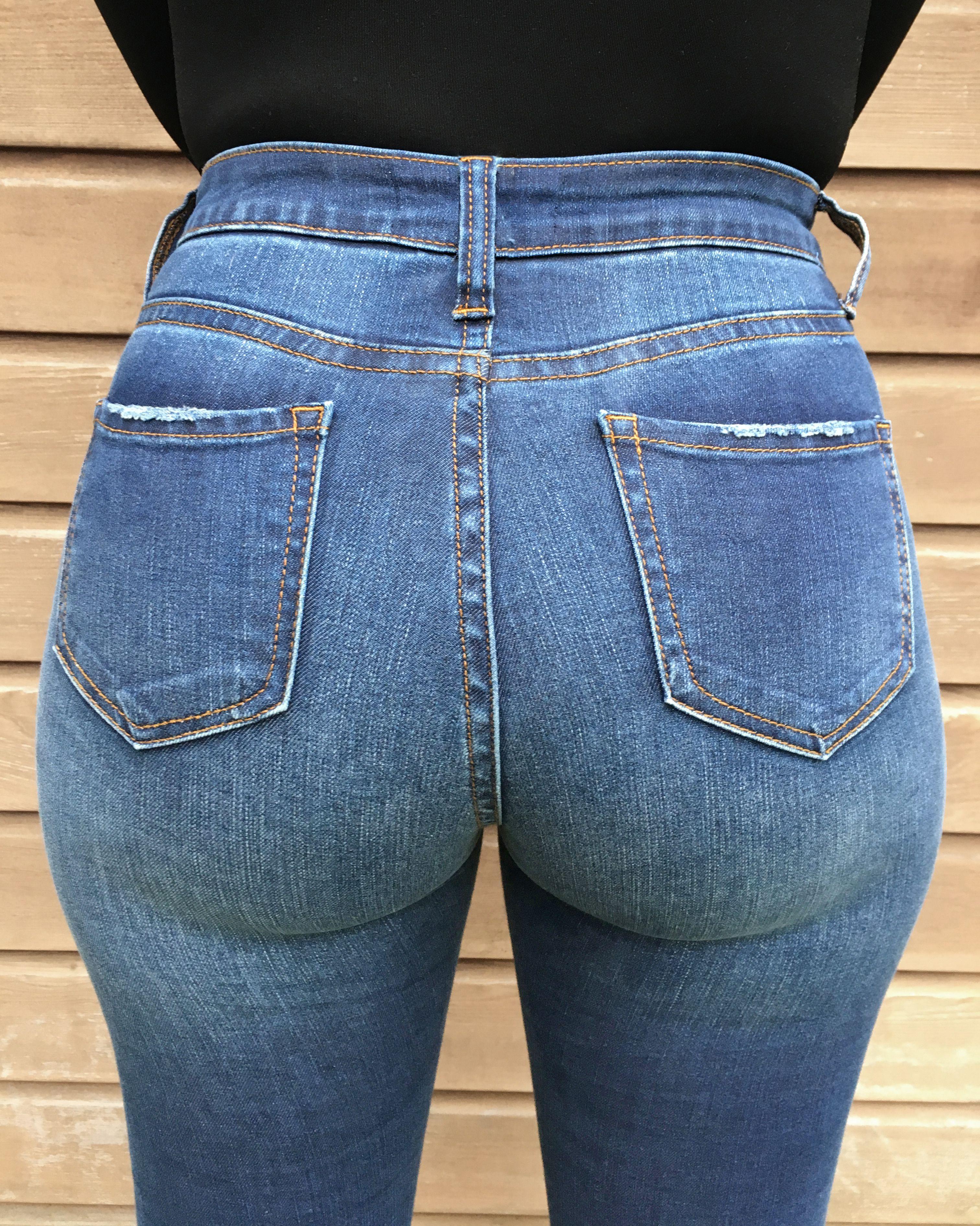 Peach High Elastic Tight Ass Jeans Hips Sports Yoga Pants