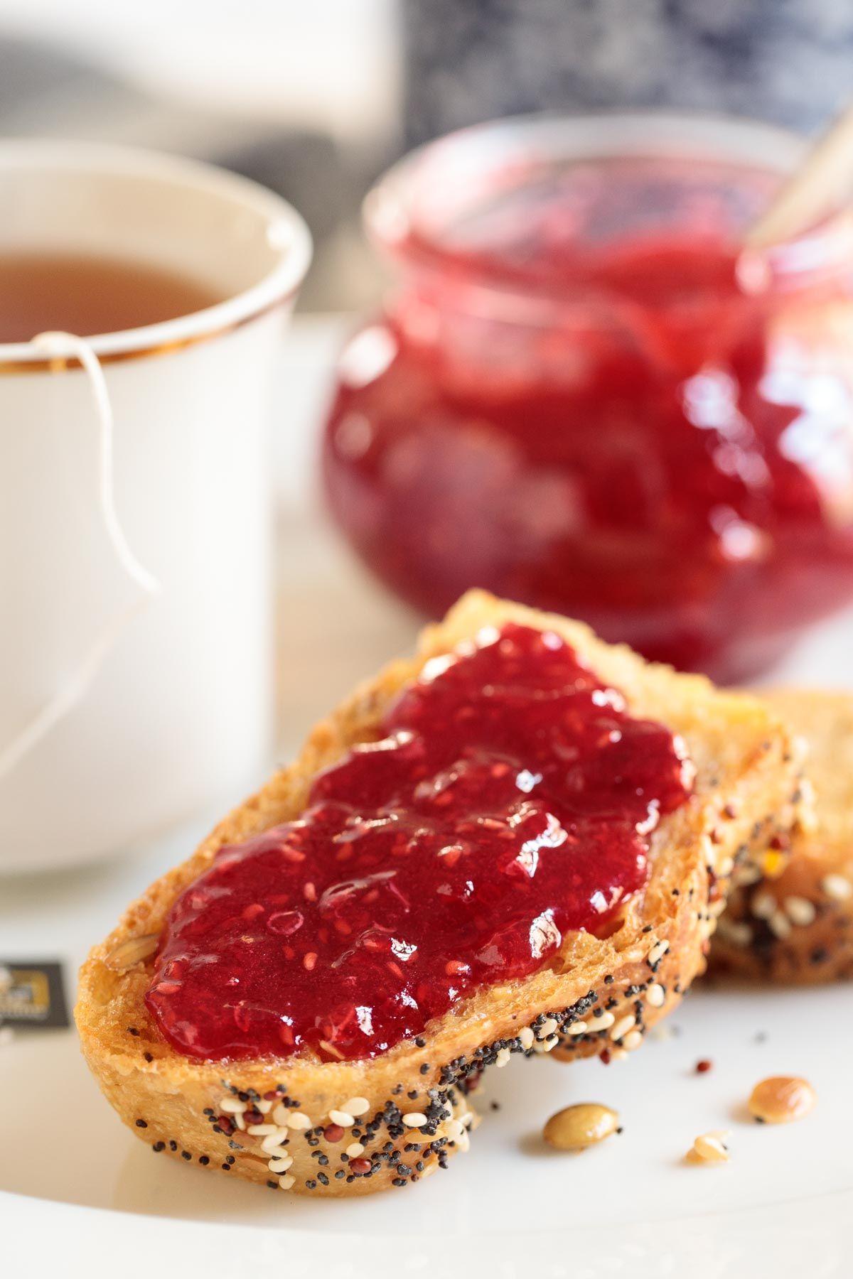 Overnight Raspberry Freezer Jam Recipe Raspberry