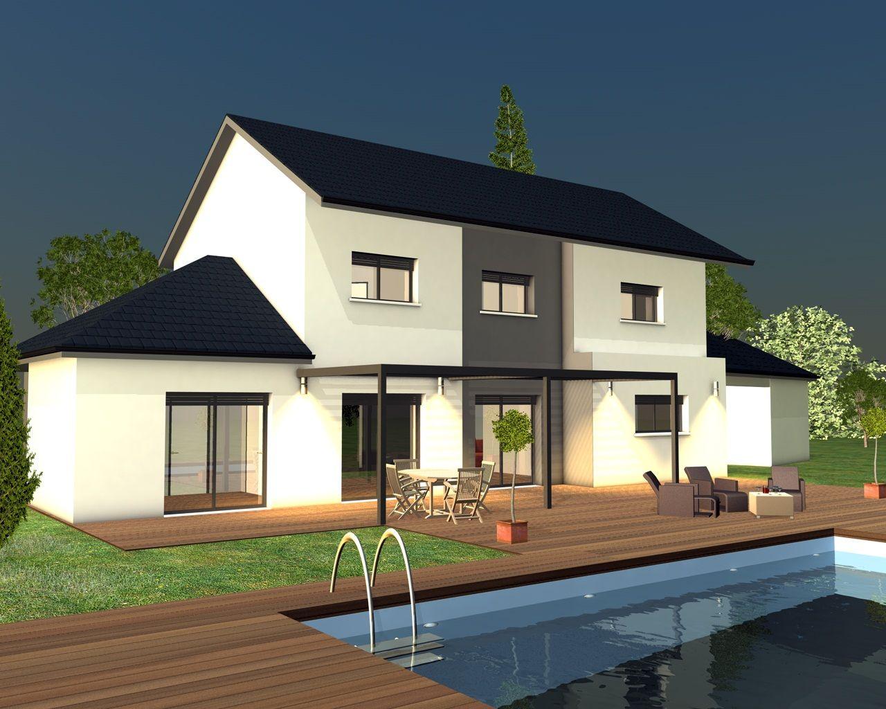Modèles et plans de maisons modèle à étage inspiration étage pergola constructions demeures côte
