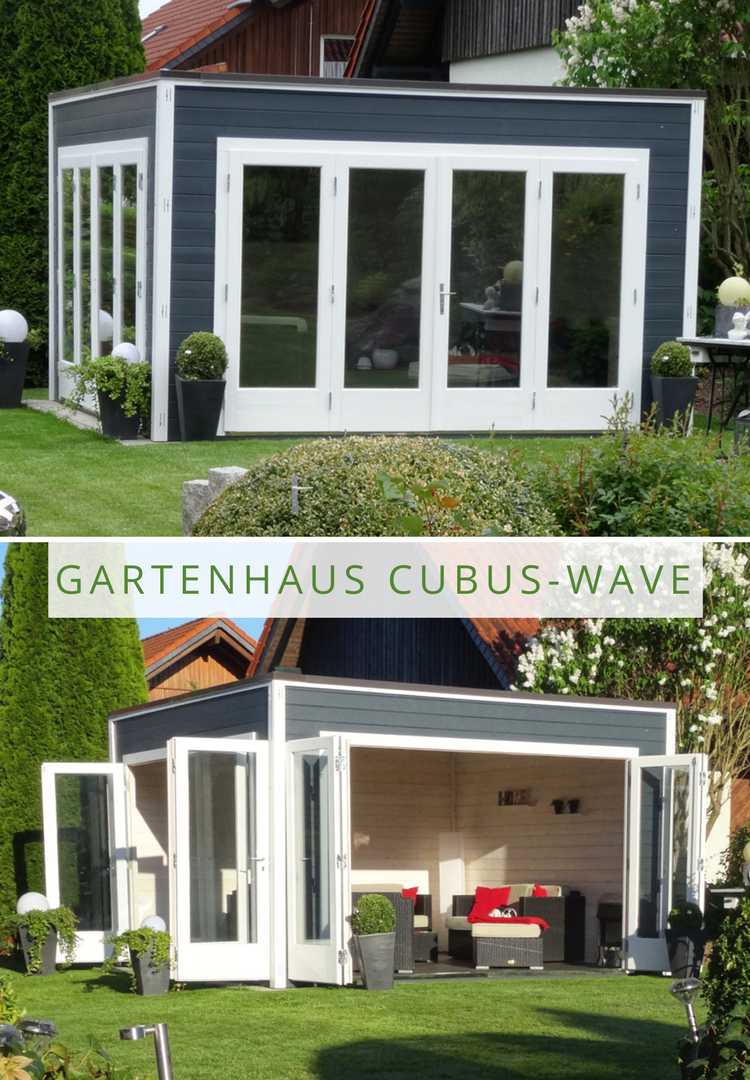 Design Gartenhaus CubusWave 44 ISO Gartengestaltung
