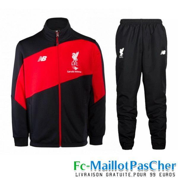 Nouveau Veste de foot Liverpool NoirRouge N98 Homme 152016