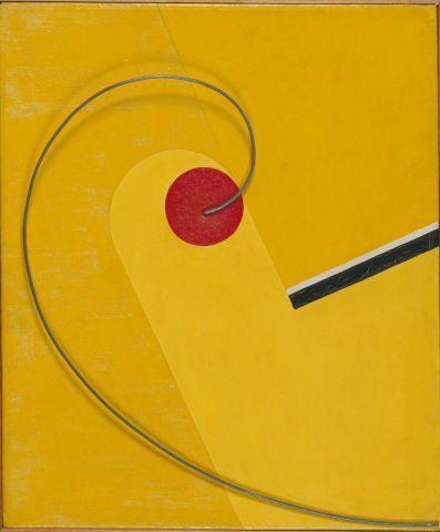 Franz Ehrlich 'Roter Kreis auf Gelb mit Spirale' 1930