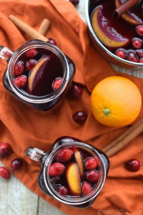 Glühwein Rezepte: Cranberry-Orangen-Glühwein