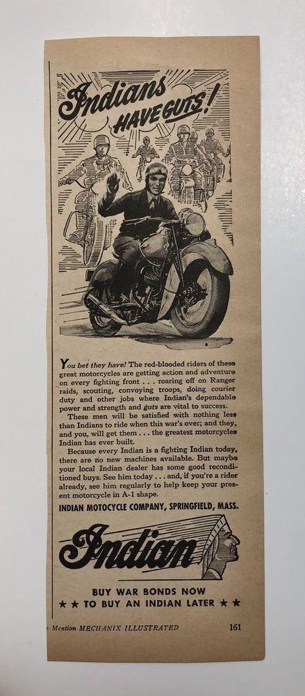 Vintage Indian Ads collection on eBay!