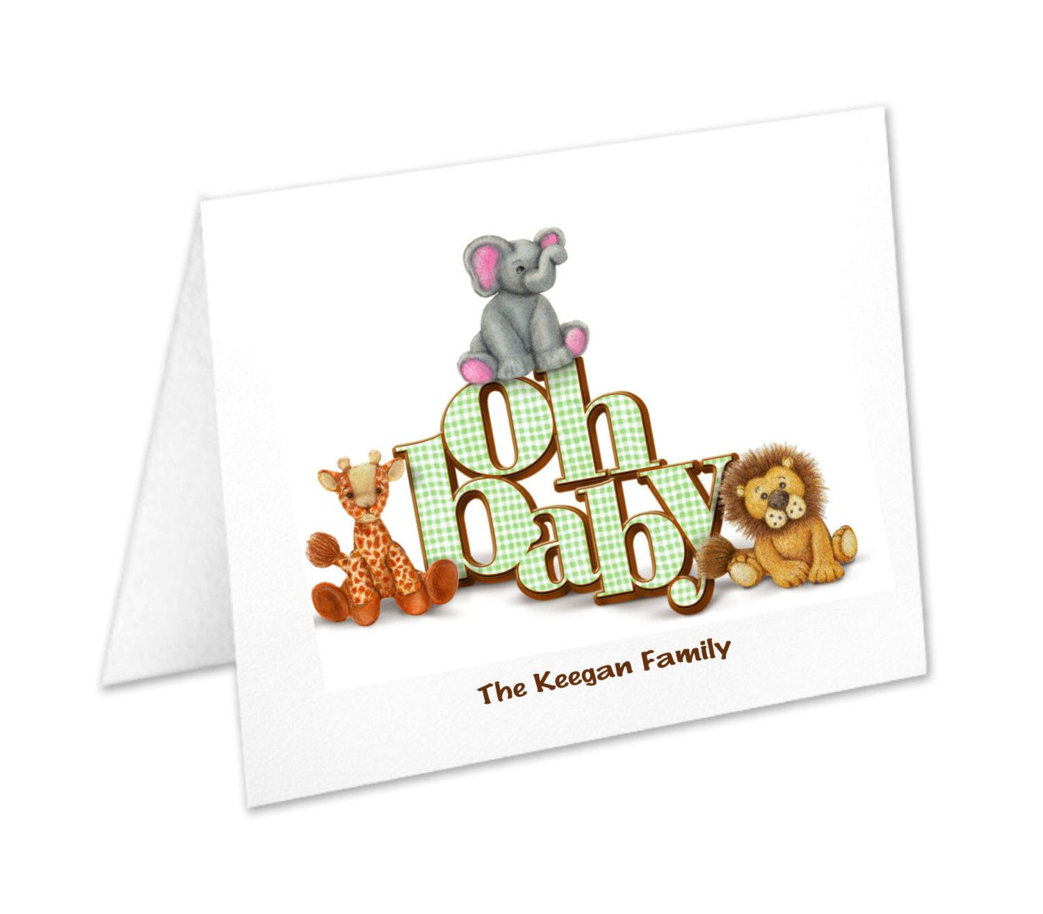 personalized baby stationery newborn note cards