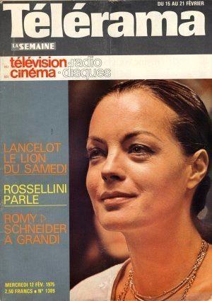 Romy Schneider - Télérama Magazine [France] (15 February 1975)