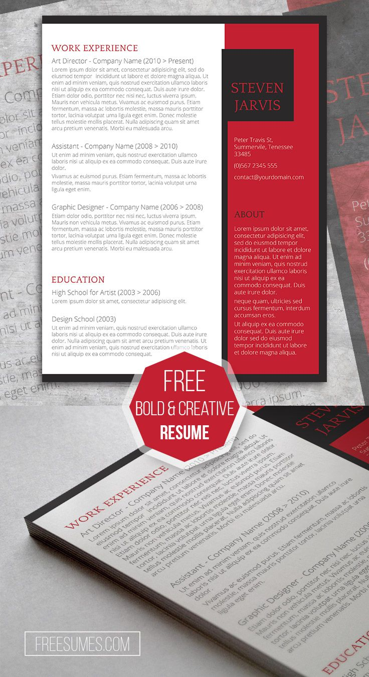 An Unconventional Cv Template Giveaway  AvantGarde  Cv Template