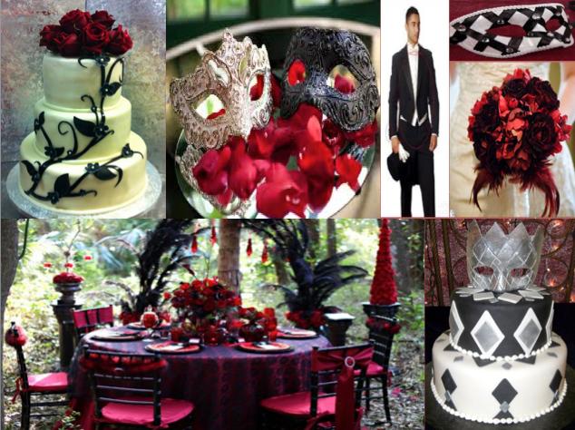 Masquerade Wedding Halloween Centerpieces Tables