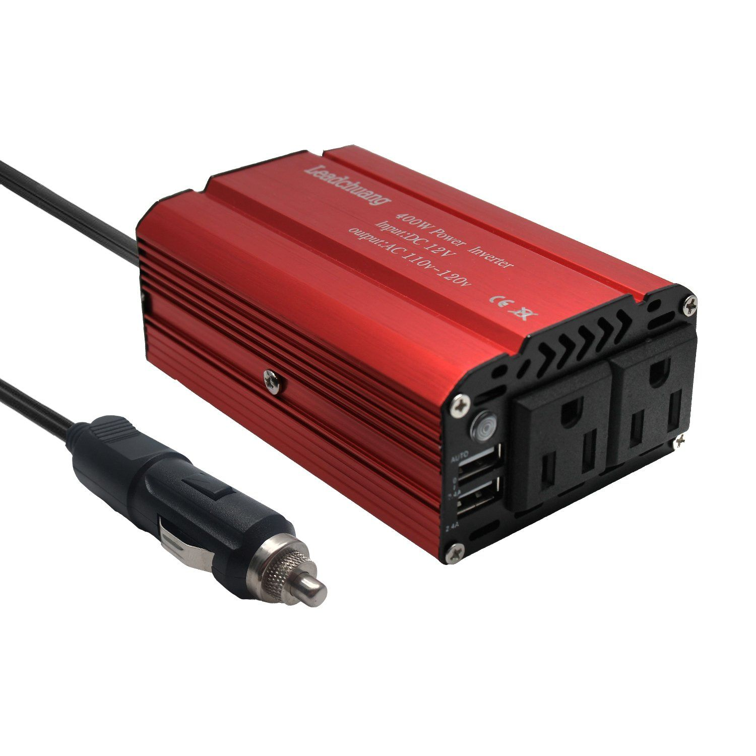 Ac Converter Car Power Inverter 400w Auto Inverter Dc 12 Volt To 110v Dc To