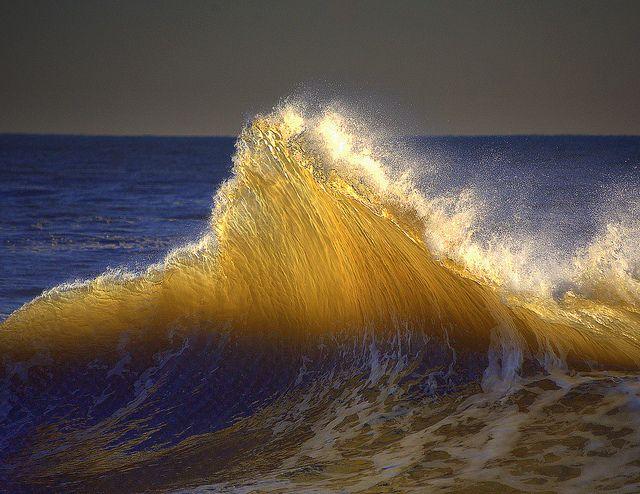 Golden Glass Wave by William  Dalton, via Flickr