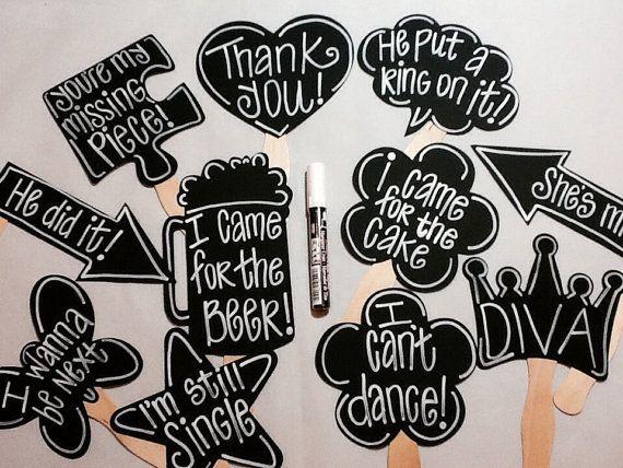 Chalk Marker PLUS 10 BLANK Chalkboard Photo booth Props Speech ...