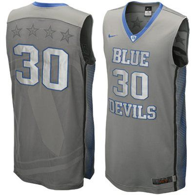 Nike Duke Blue Devils  30 Hyper Elite Platinum Basketball Jersey - Dark Gray 45ee7522e