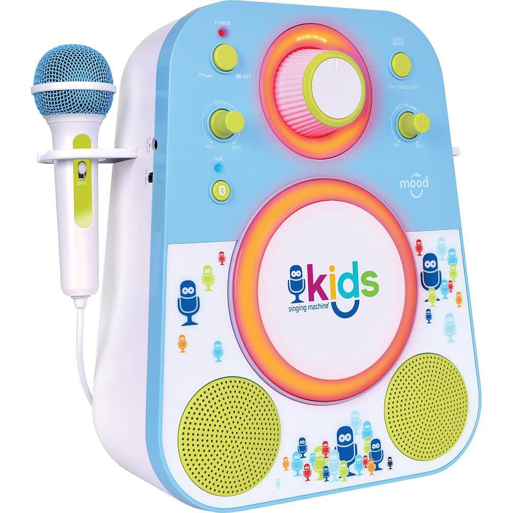 Singing Machine - Kids Mood Bluetooth Karaoke System - Blue/Green #karaokesystem