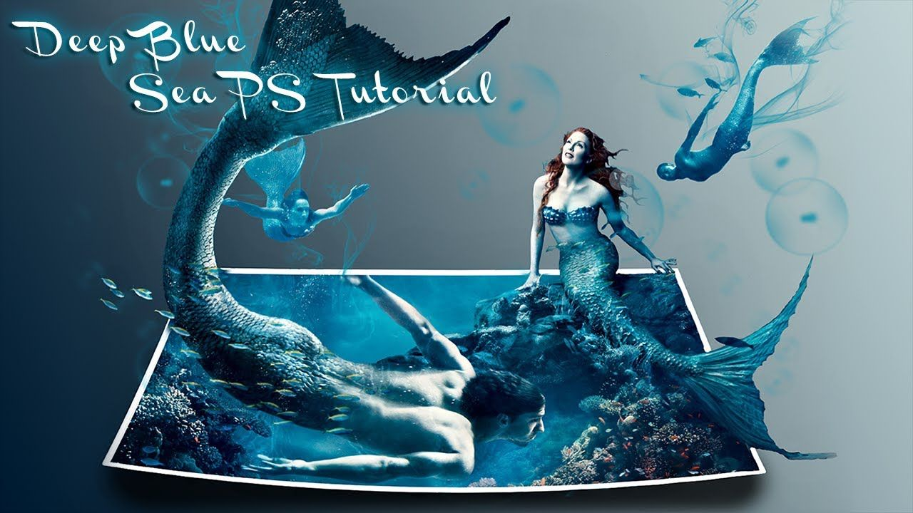 deep blue sea │ 3d effect │ photoshop cs6 tutorial this ...