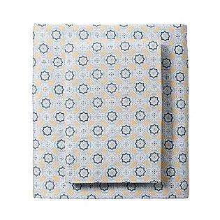Slate/Goldenrod Mosaic Sheets for our Designer Bedding | Serena & Lily