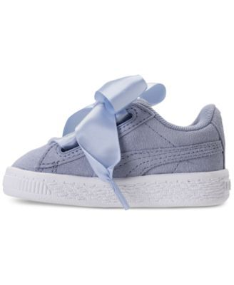 Puma Toddler Girls  Suede Heart Casual Sneakers from Finish Line - Purple 10 06977b950