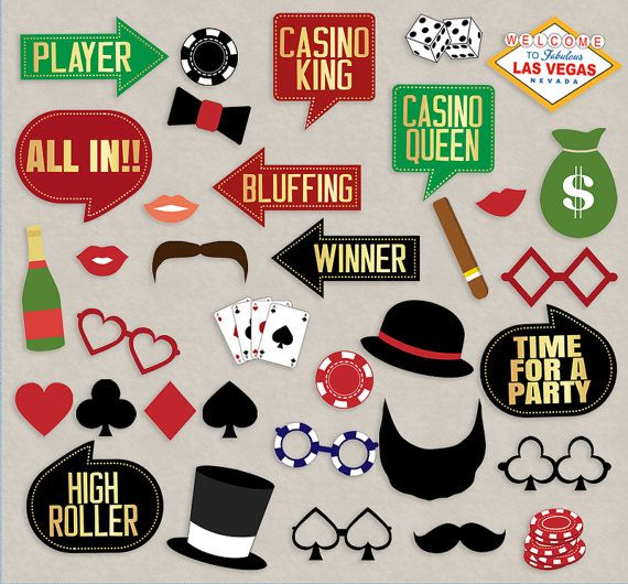 Casino night photo booth props
