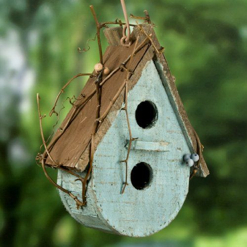 birdhouse from salvage materials