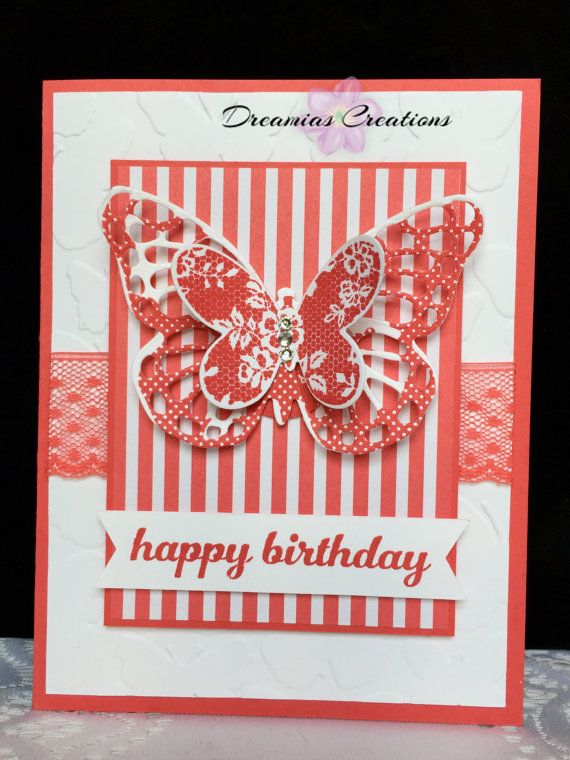 Set of 5 Butterfly Cards for different occasion